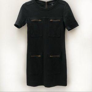 J Crew black short sleeve dress
